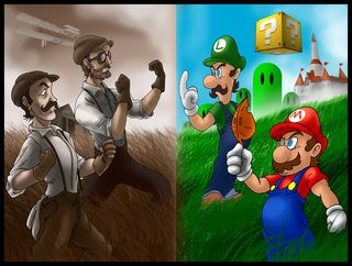 Mario_bros__vs_wright_bros__by_semajz-d4qkbrj